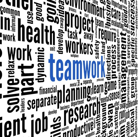 Teamwork and strategy concept in word tag cloud Stock Photo - 17123217