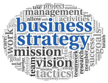 Strategy and teamwork concept in word tag cloud Stock Photo - 17375739