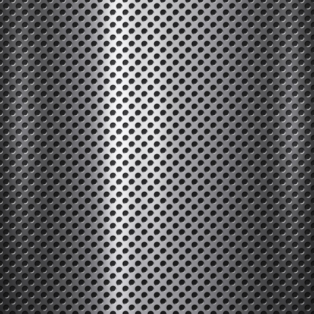 Metal mesh with small holes background or texture Stock Photo