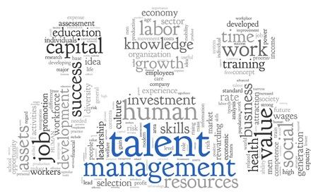 Talent koncepció a Word tag felhő, fehér, háttér Stock fotó