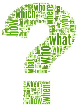 signo de interrogacion: Questioms concepto de signo de interrogación de la nube de palabra de la etiqueta