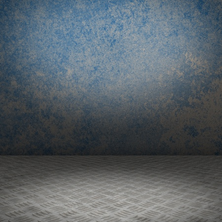 Grunge inter with metal floor and concrete wall userful as background Stock Photo - 18518902