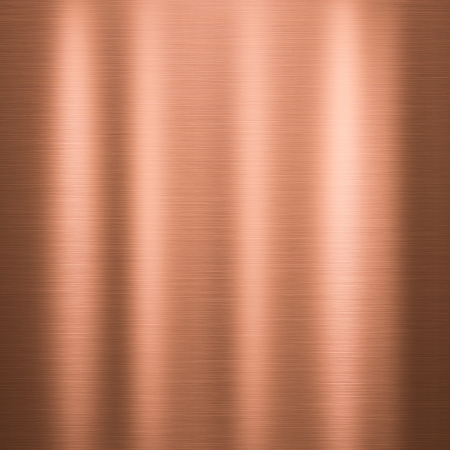 Metal background or texture of brushed copper  plate photo