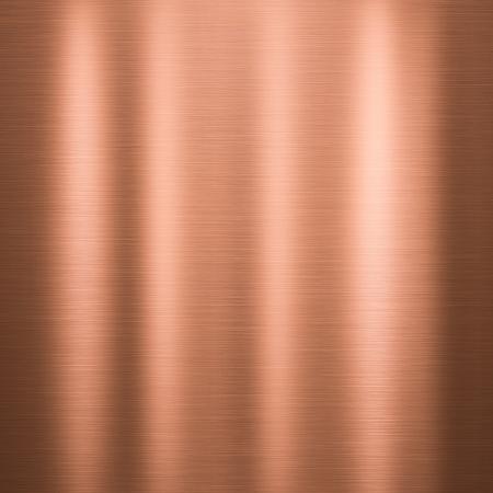 cobre: Metal de fondo o la textura de la placa de cobre pulido