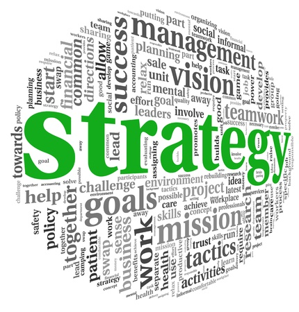 company vision: Strategy and management concept in word tag cloud