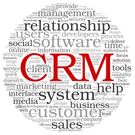Customer Relationship Management System CRM a szót címkefelhő