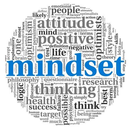 buena salud: Concepto de mentalidad en la palabra nube de etiquetas