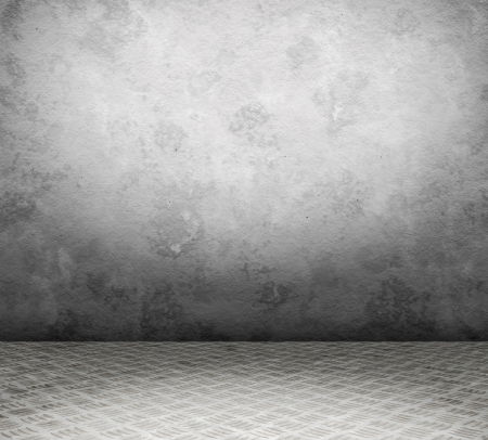 Régi belső fém padló és fal userful a háttérben
