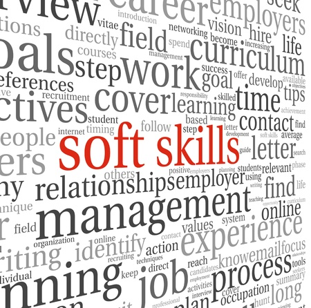 resources: Soft skills concept in word tag cloud on white