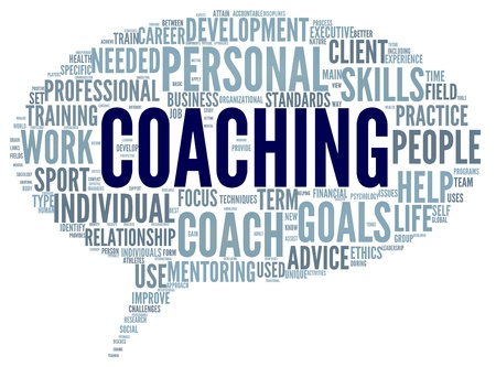 coaching: Coaching concept related words in tag cloud isolated on white Stock Photo