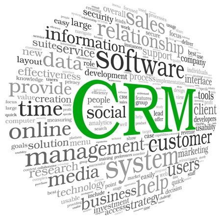relation clients: CRM Customer Relationship Management System en nuage de tags mot Banque d'images