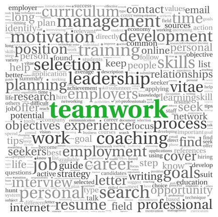 investigations: Teamwork and strategy concept in word tag cloud Stock Photo