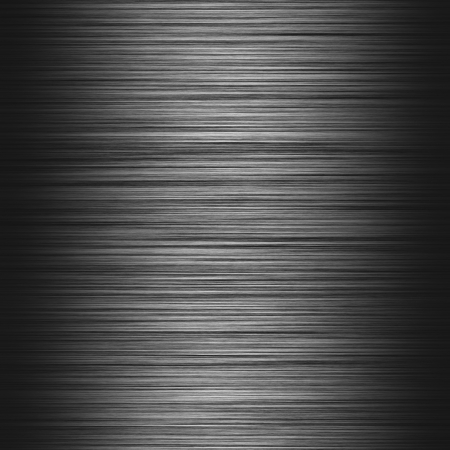 Metal background or texture of dark brushed metal plate Stock Photo