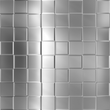 Metal silver checked pattern background Stock Photo - 20282409