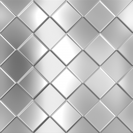 Metal silver checked pattern background Stock Photo - 20282435