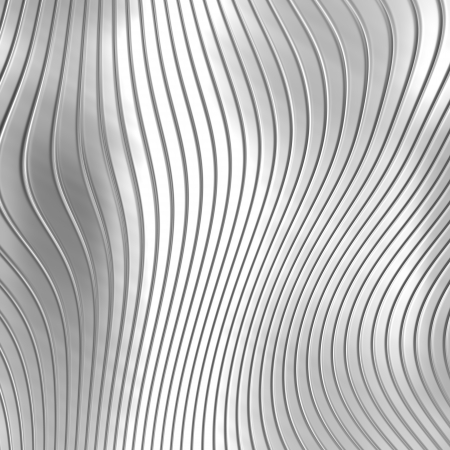 texture twisted: Aluminum silver stripe pattern background Stock Photo