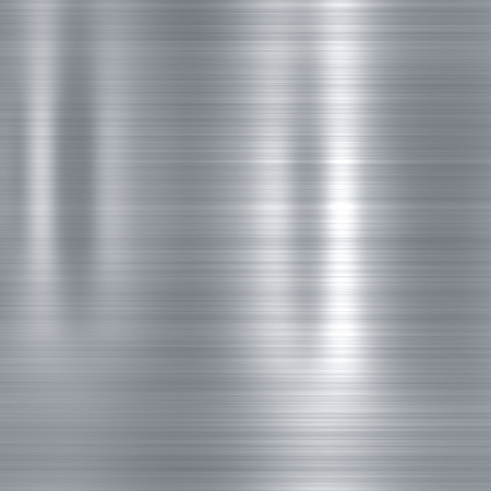 polished metal: Metal background or texture of brushed steel  plate with reflections