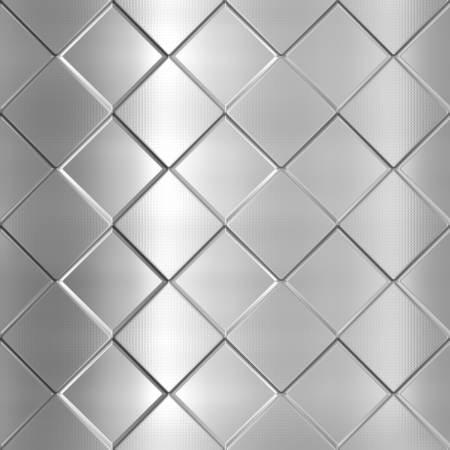 Metal silver checked pattern background photo