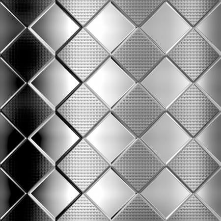 Dark metal silver checked pattern background Stock Photo - 20282477