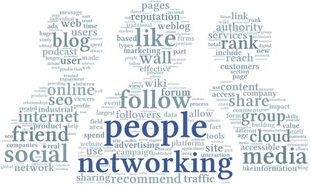 wiki: People networking concept in word tag cloud on white background