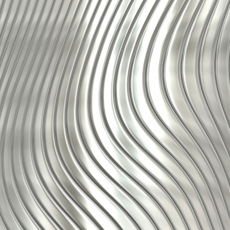 Aluminum silver stripe pattern background Stock Photo