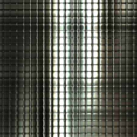 Metal silver checked pattern background with reflections Stock Photo