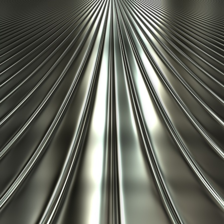 Aluminum silver stripe pattern background with perspective