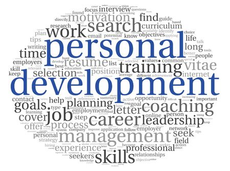 cloud tag: Personal development concept in word tag cloud on white