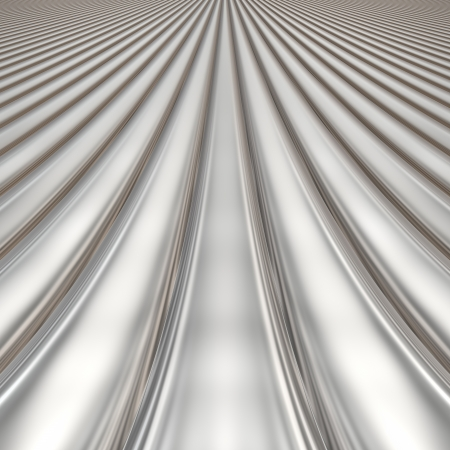 Aluminum silver stripe pattern background with perspective photo