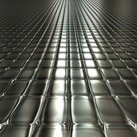 Dark metal silver checked pattern background with perspective photo