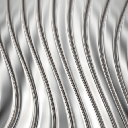Aluminum metal striped pattern texture or background photo