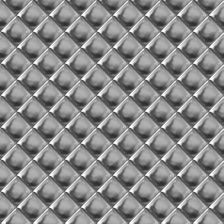 Checked metal aluminum pattern background or texture photo