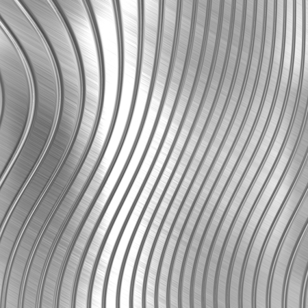 Metal background of silver striped pattern photo