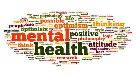 disorders: Mental health concept in word tag cloud on white