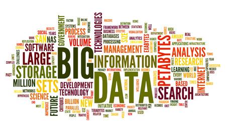 wort: Big Data-Konzept in Wort tag cloud auf weißem Hintergrund Lizenzfreie Bilder