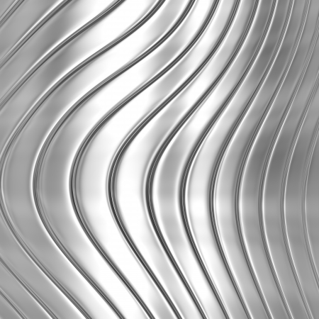 Metal silver striped pattern photo