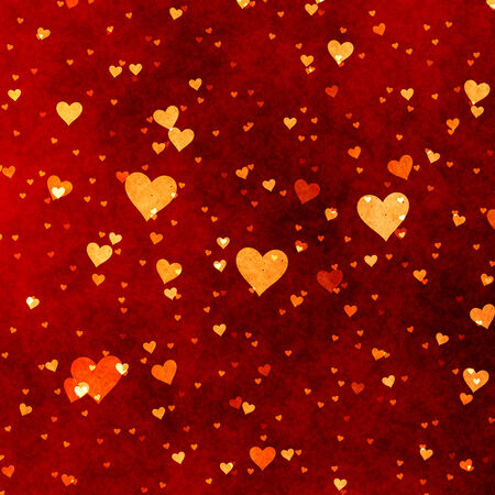 Red hearts abstract background for valentine photo