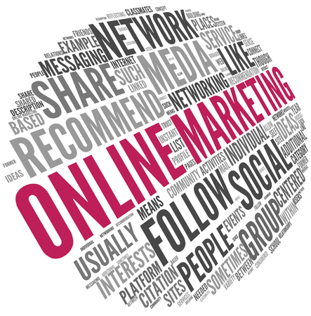 tag: Online marketing concept in word tag cloud