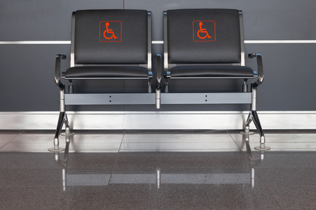 handicap: Seats for diabled people located in public place