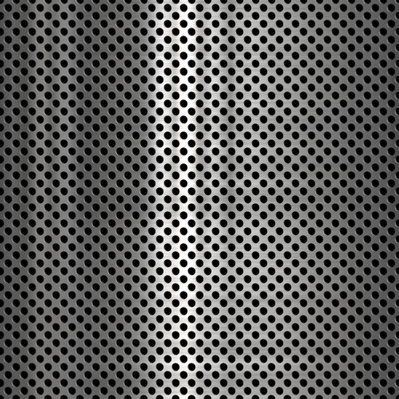 grille: Metal mesh with small holes background or texture Stock Photo