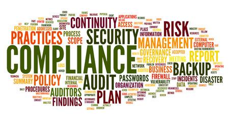 Conformité et d'audit dans le mot nuage sur fond blanc Banque d'images - 28581372