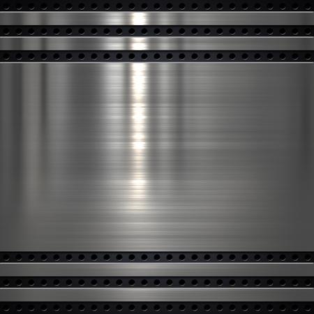 Metal plate on metal mesh