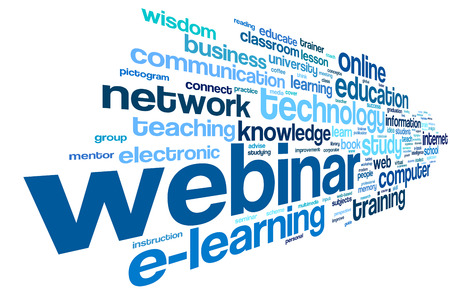 Webinar in word tag cloud on white background Stock Photo