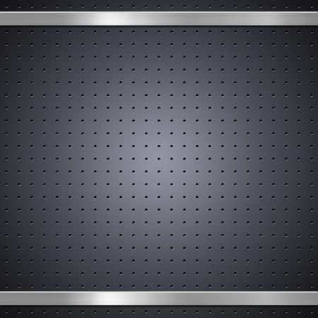 Metal bars on metal mesh background or texture