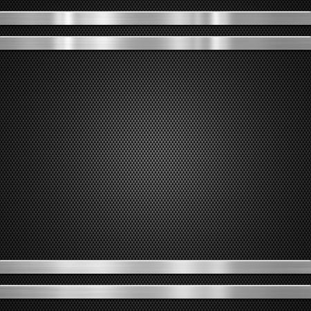 fiber: Carbon fibre with metal bars  background or texture