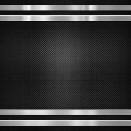 Metal bars on carbon fibre background or texture Banque d'images