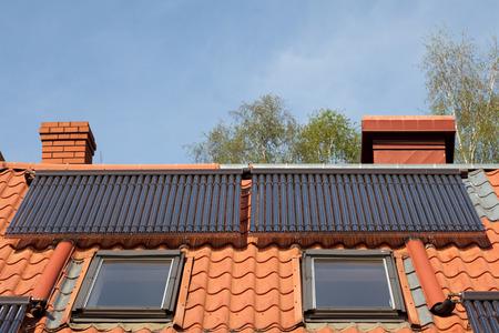 Solar pipes on roof - slar energy system
