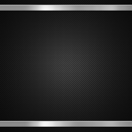 Carbon fibre with metal bars background or texture