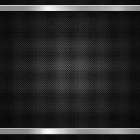fibra de carbono: La fibra de carbono con barras de metal de fondo o la textura