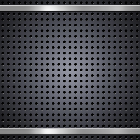 brushed metal background: Metal mesh with brushed metal bars background or texture Stock Photo